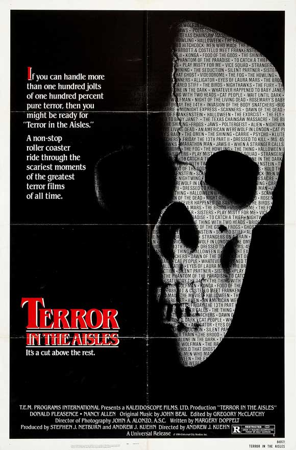 Horror Movie Posters I Love: Terror In The Aisles (1984 ...